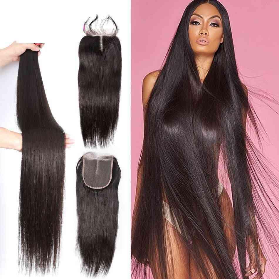 9a Grade Brazilian 100% Unprocessed Virgin Human Hair Extension 1/3/4