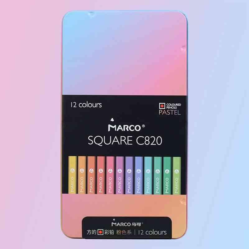 Square Body Color Pencils Pastel/classic Oil/water Color Pencil
