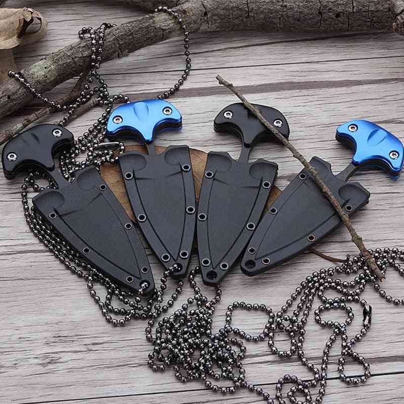 Multifunctional Mini Hanging Necklace, Knife Protable, Outdoor Camping, Rescue Survival Tool, Tea Portable Tools