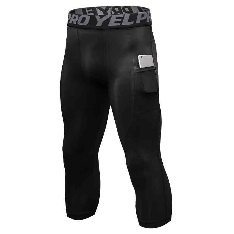 New 3/4 Men's Pro Quick Dry Running Tights Pants