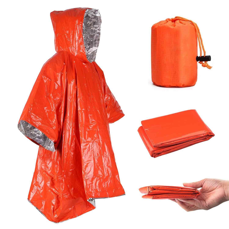 Emergency Raincoat, Rainwear Blankets Survival Tool