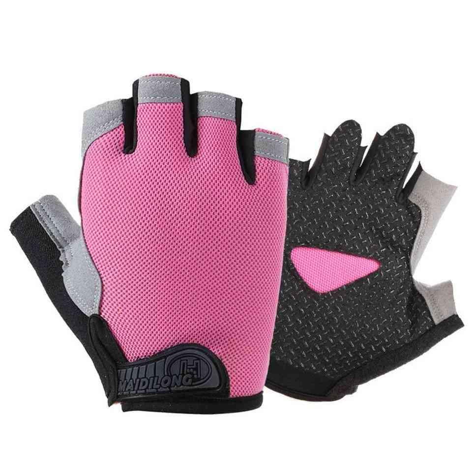 Women Half Finger Fitness Gloves