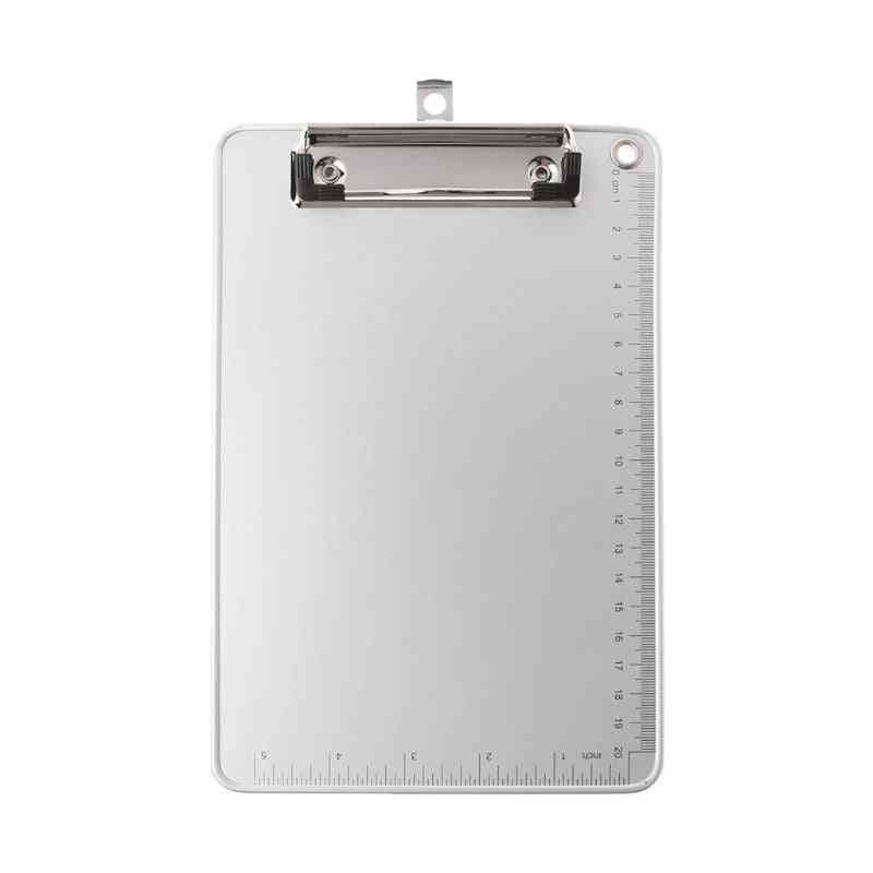 Portable Aluminum Alloy Writing Clip Board, Antislip, File Hardboard, Paper Holder For Office, School, Stationery Supplies