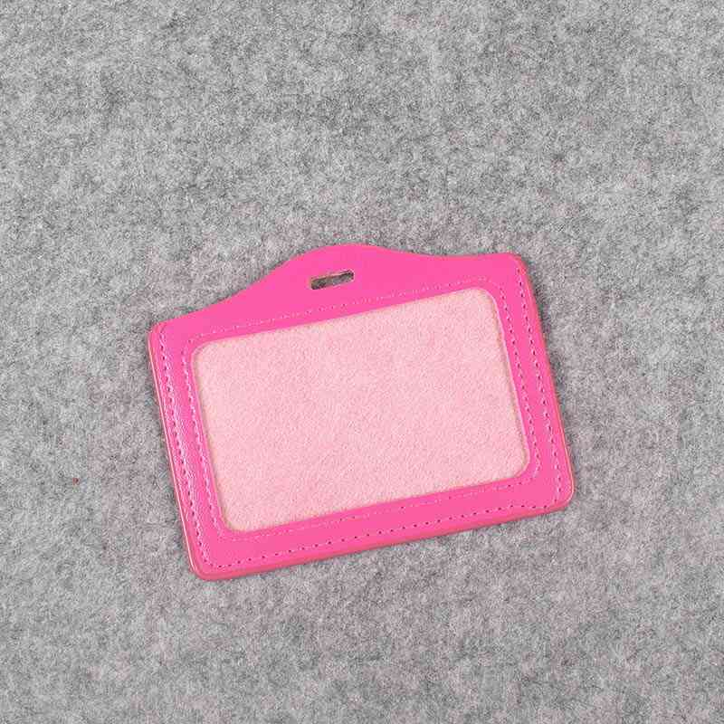 27 Colors Pu Card Holder Badge Holder & Accessories Hospital Nurse School Entrance Guard Card & Chest Card Transverse Style
