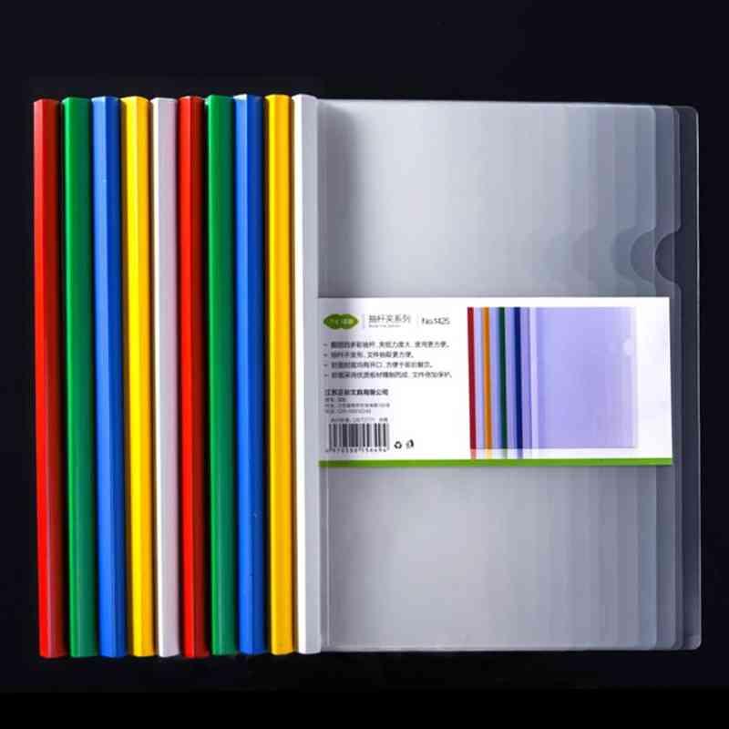 Folder Transparent Rod Clamp, Planner Tie Clips Organizer