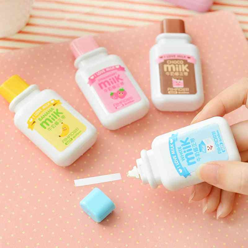 New Arrival 1pc Cartoon Popular Mini Small Milk Bottle Correction Tape Altered Tapes