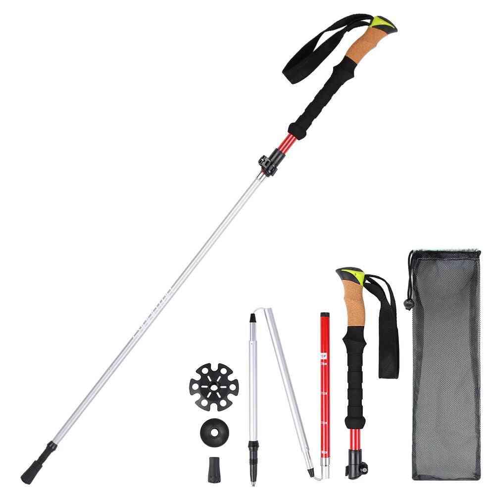 Collapsible Walking /trekking Pole Protection Lightweight Hiking Stick