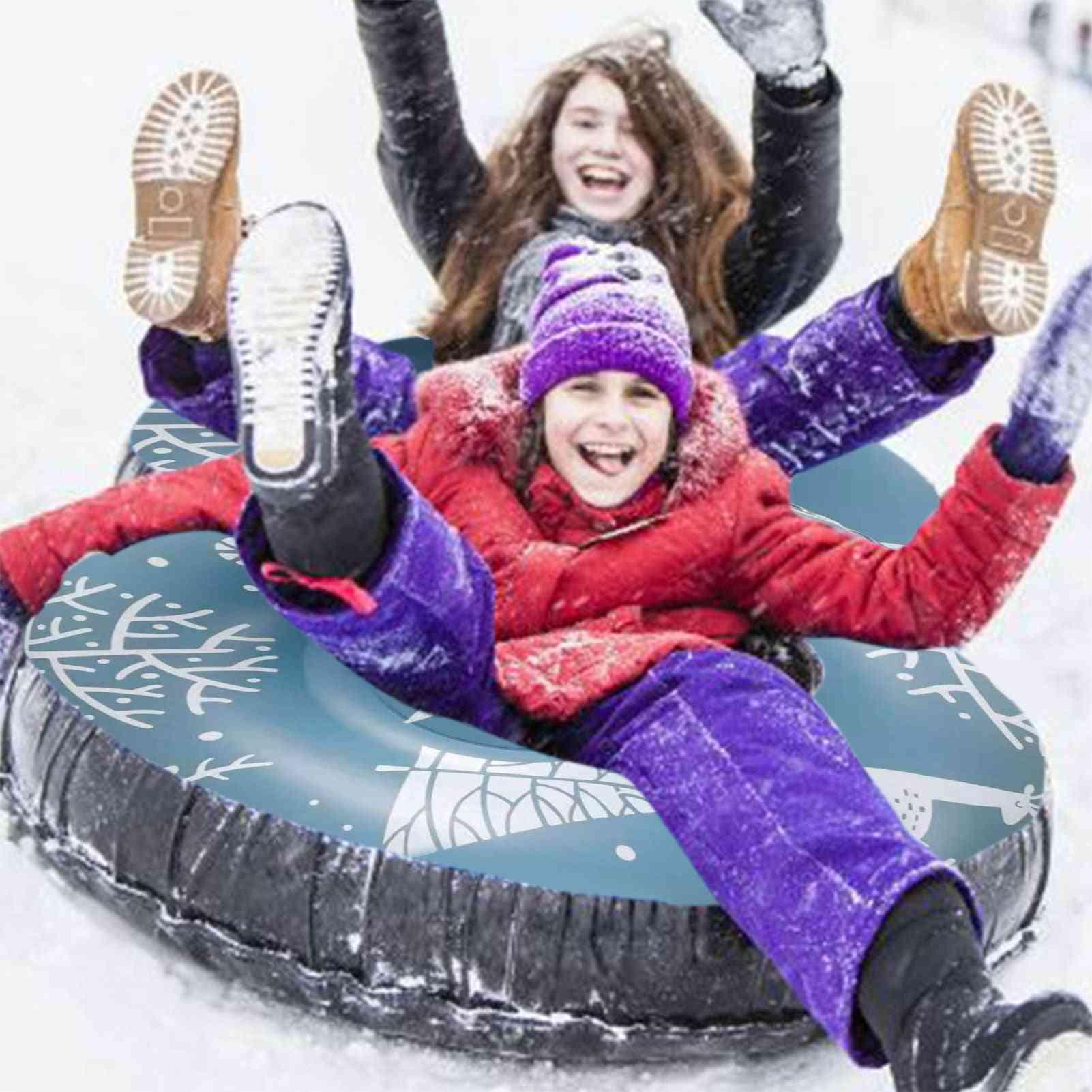 Ski Circle Adult Ski Ring Skiing Snow Tube Thickened Floated Sled