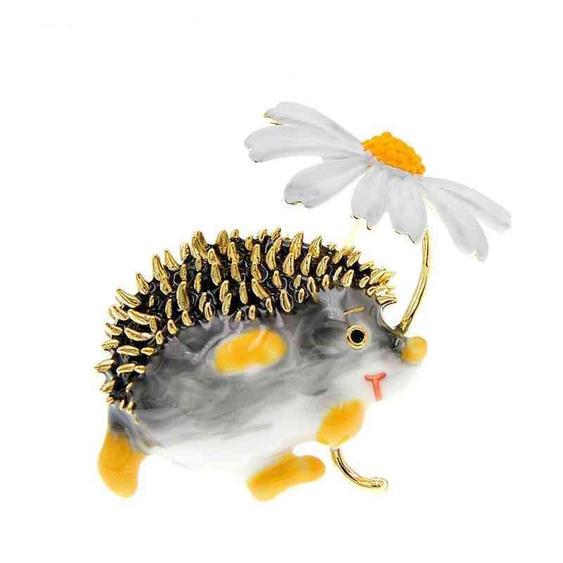 Cute Hedgehog Brooch Fashion Daisy Brooches