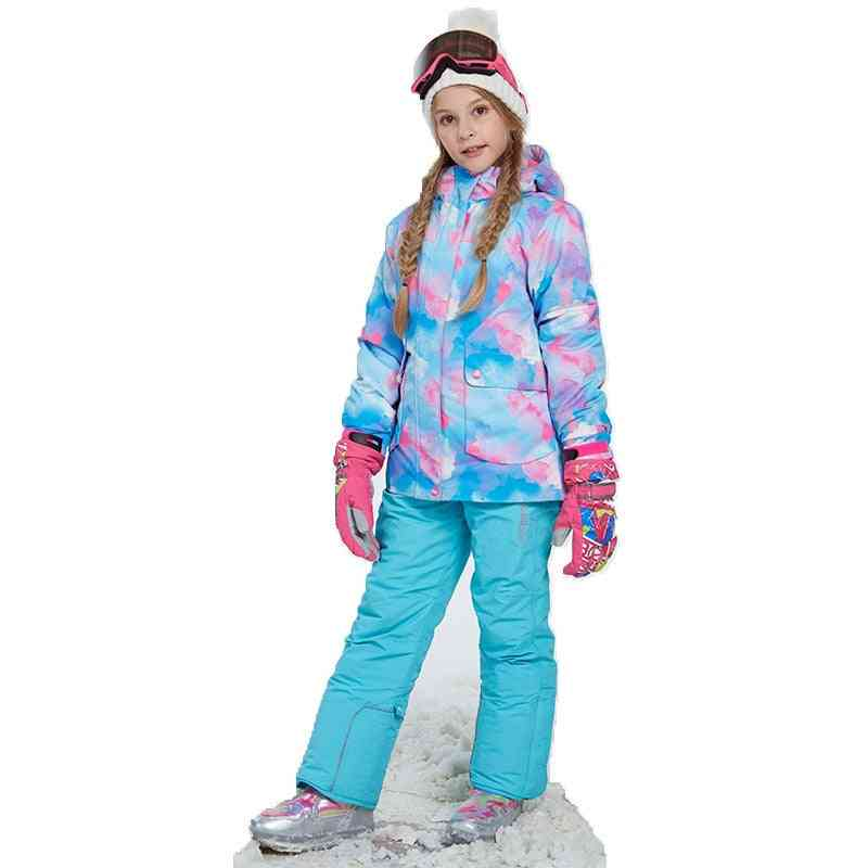 Winter Windproof Ski Jacket And Pant Outdoor Clothing Set