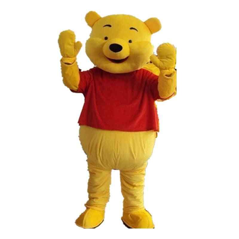 Yellow Bear Mascot Costume Adult Dress