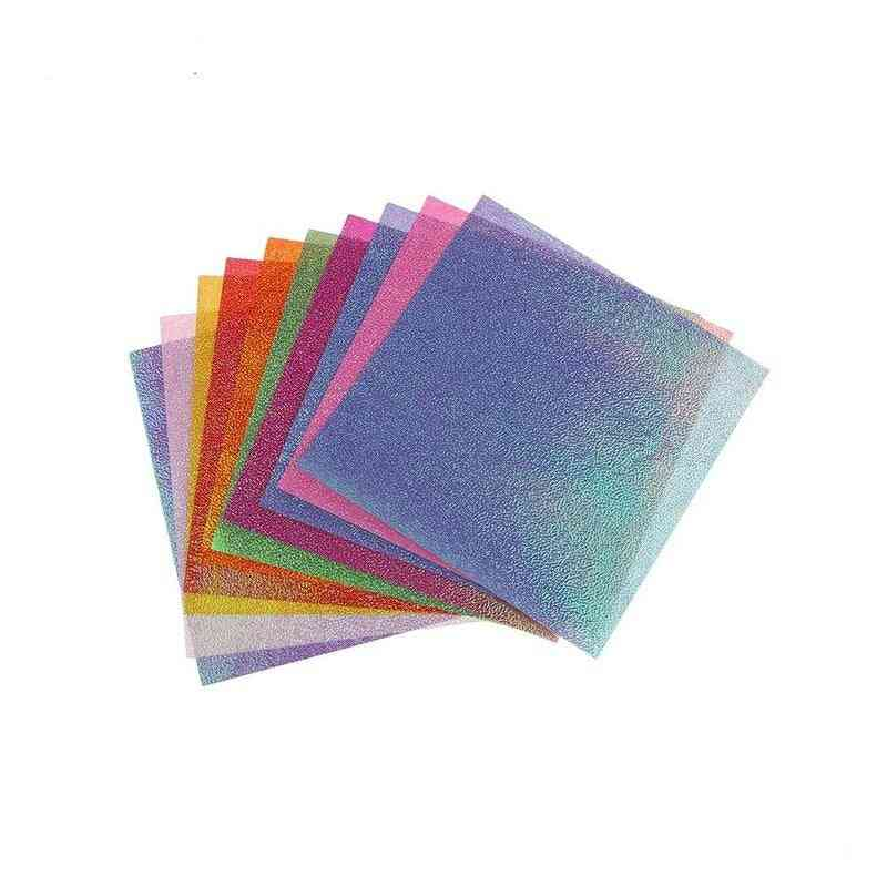 Flash Pearlescent Origami Sheets Cardstock Papers