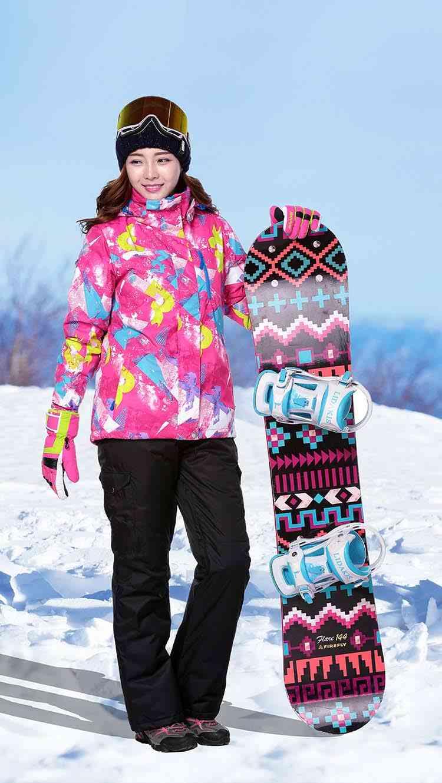Ski Wear Waterproof Mountain Snowboard Set Strap Pants