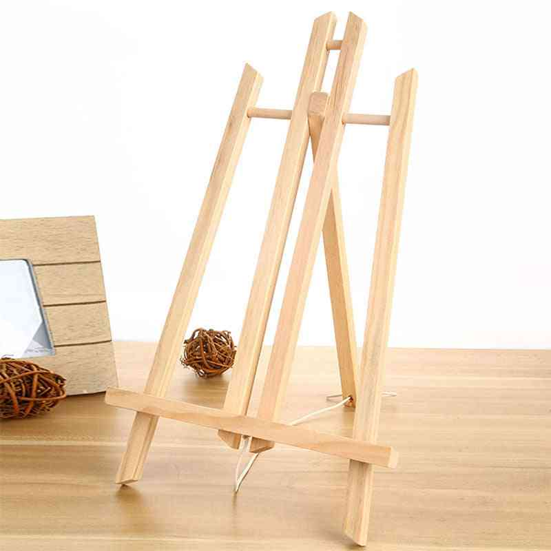 Beech Wood Table Easel Painting Craft, Wooden Vertical Technique, Special Shelf For Art Supplies