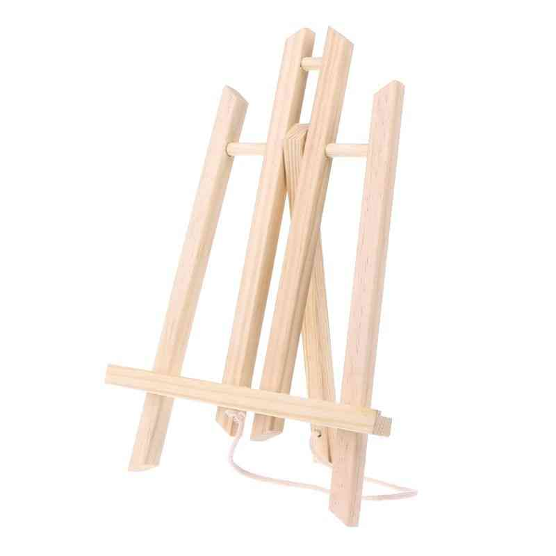 Wood Easel, Advertisement Exhibition Display Shelf Holder, Painting Stand