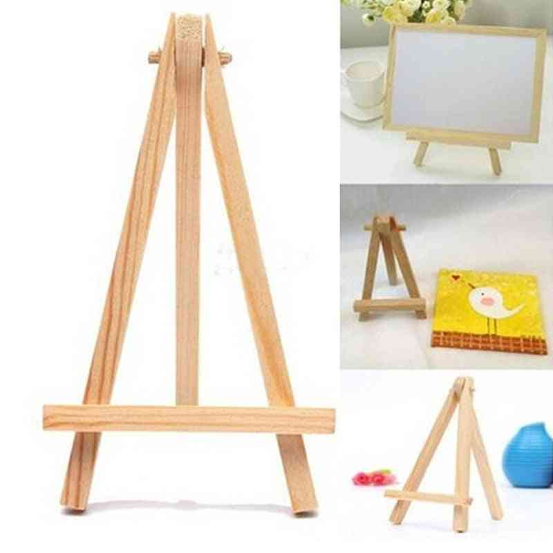 Mini Wood Artist, Tripod Painting Easel For Photo Painting, Postcard Display Holder Frame,  Desk Decor