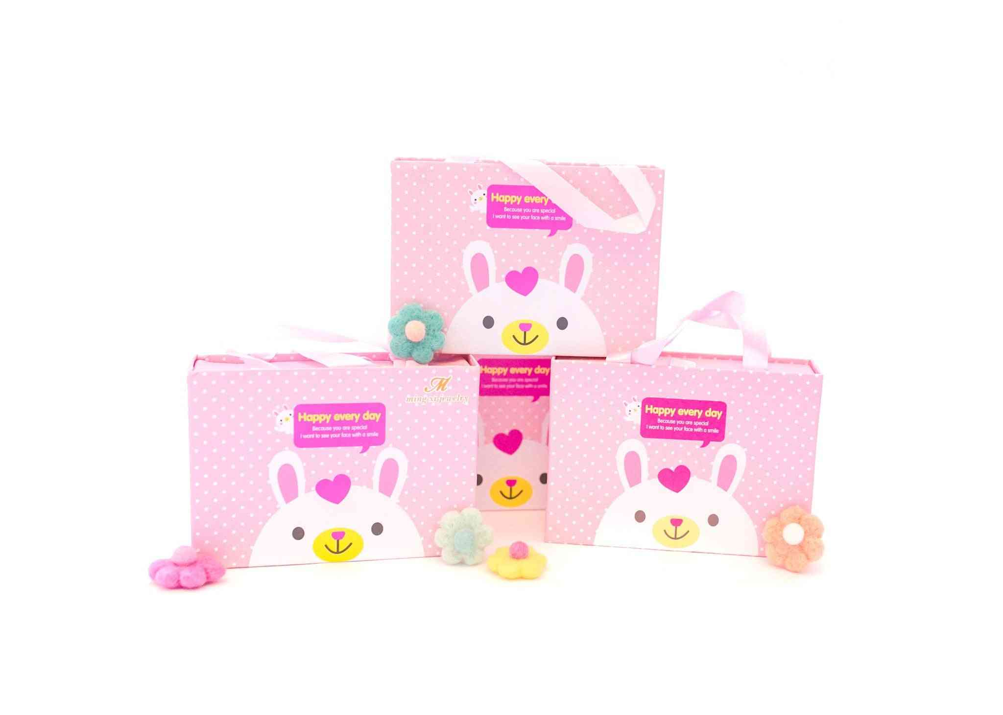 Light Pink Kids Hair Accessories Box - 18pcs - Set