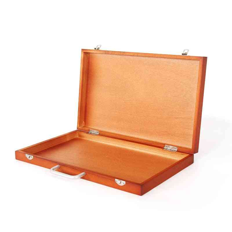 Large Painting Easel Box, Fine Artist Tabletop, Wooden Portable Drawing Accessories, Art Supplies For Artist