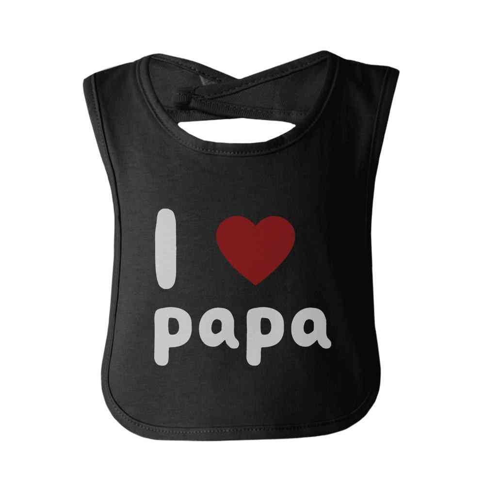 I Love Papa Cute Baby Bibs Infant Snap On