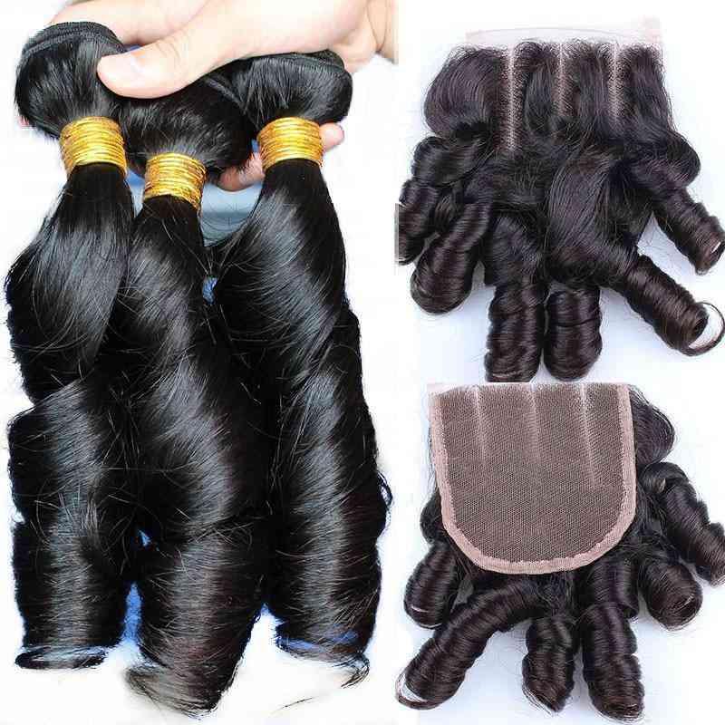 10a Grade 1/3/4 Bundles Spring Curl Bundles 3/4 Bundles With Closure