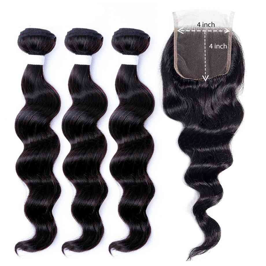 9a Grade Brazilian Human Hair Extension 1/3/4 Loose Deep Wave Bundles