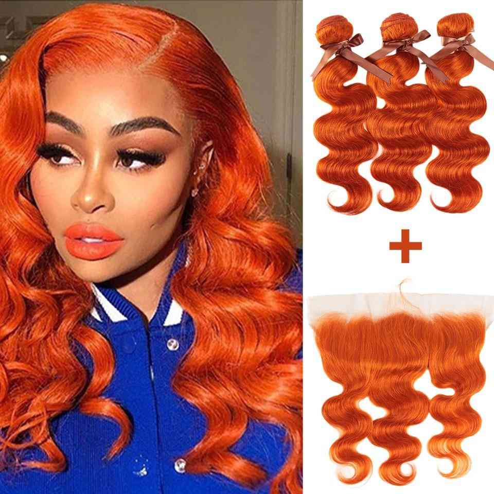 Beumax Body Wave Bundles With Closure Blonde Bundles With Frontal Remy