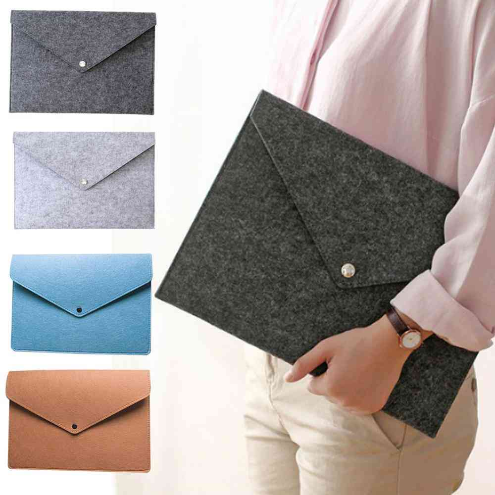 Big Capacity File Folders Felt Bags Business Briefcases