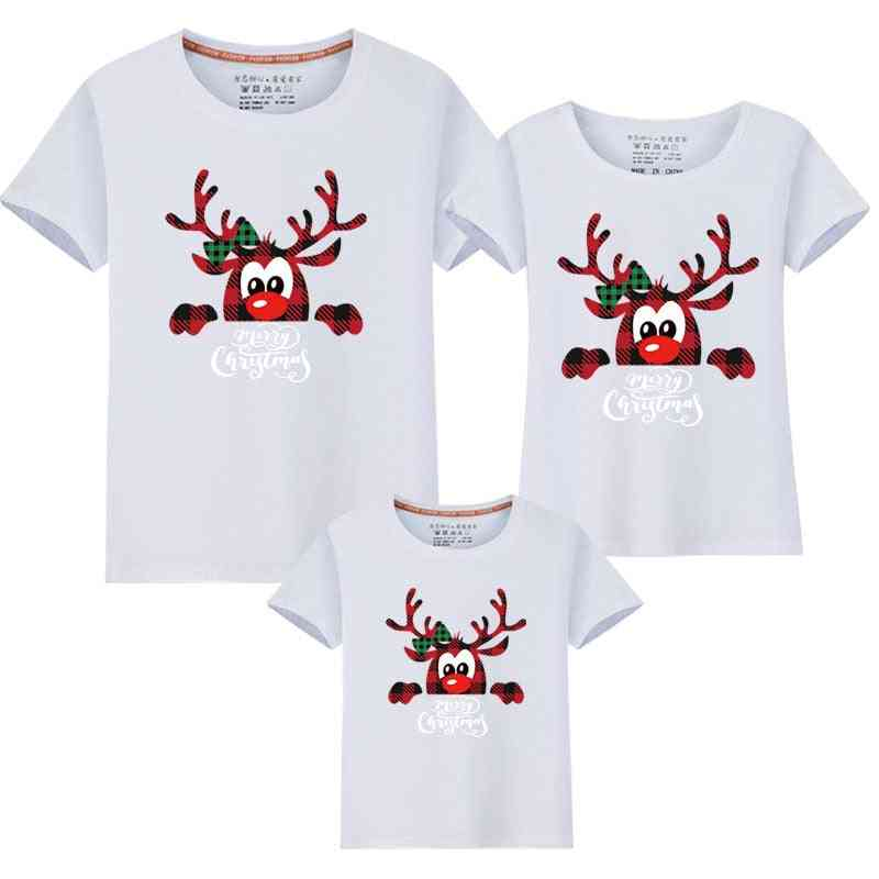 Xmas Matching Family New Christmas Dad Mom Kids T-shirts