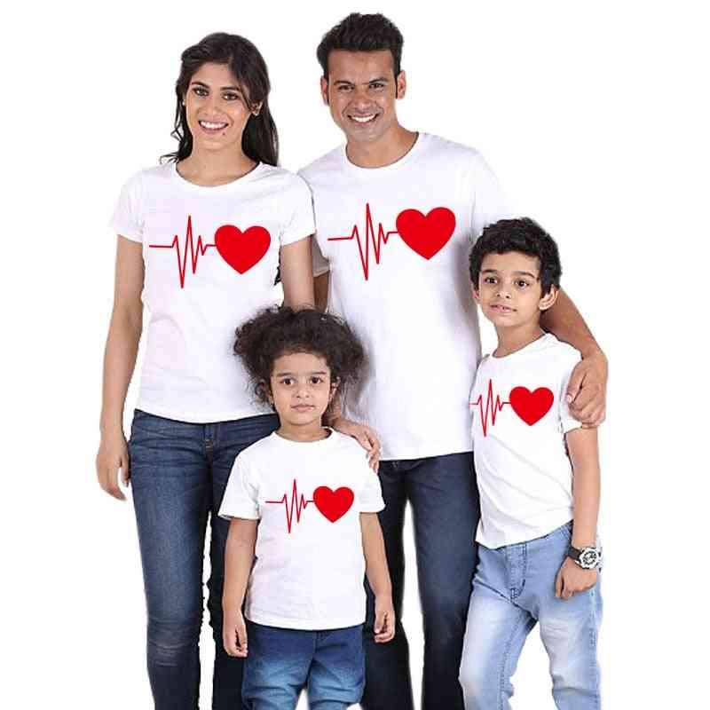 Christmas Family T-shirt, Lovely Mom Dad Kids Clothes