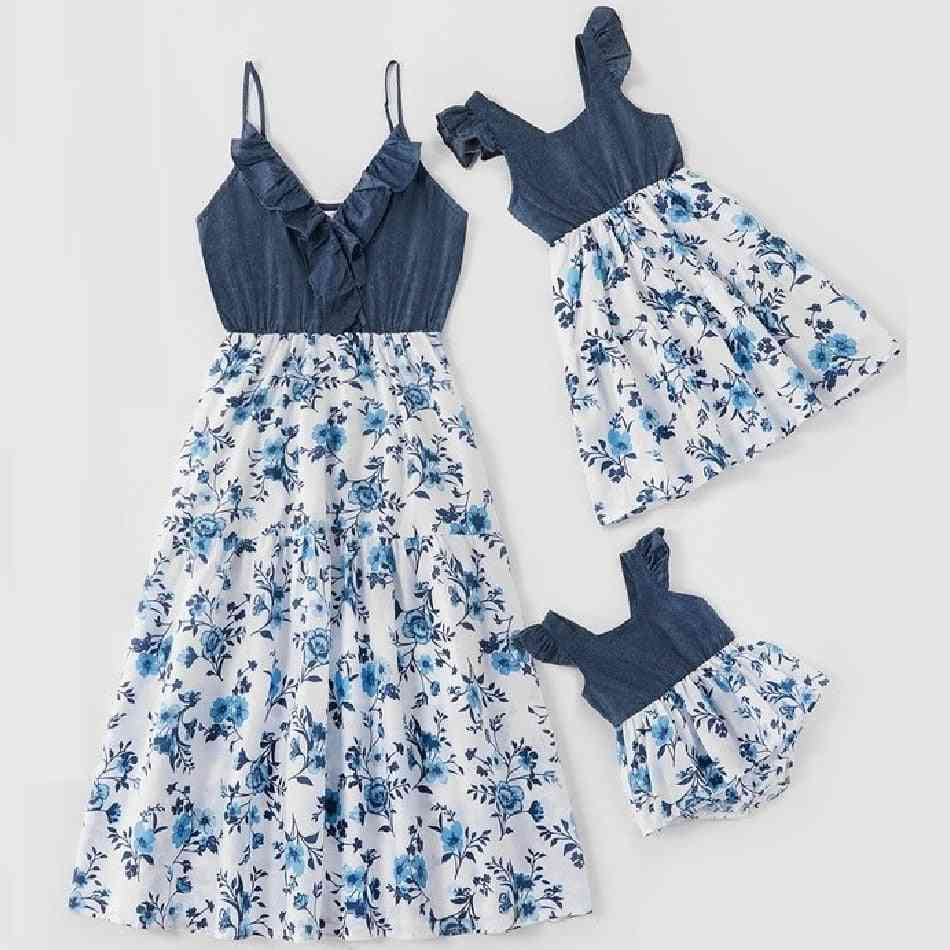 Dresses For Family Set, Mom Baby Clothes, Dress