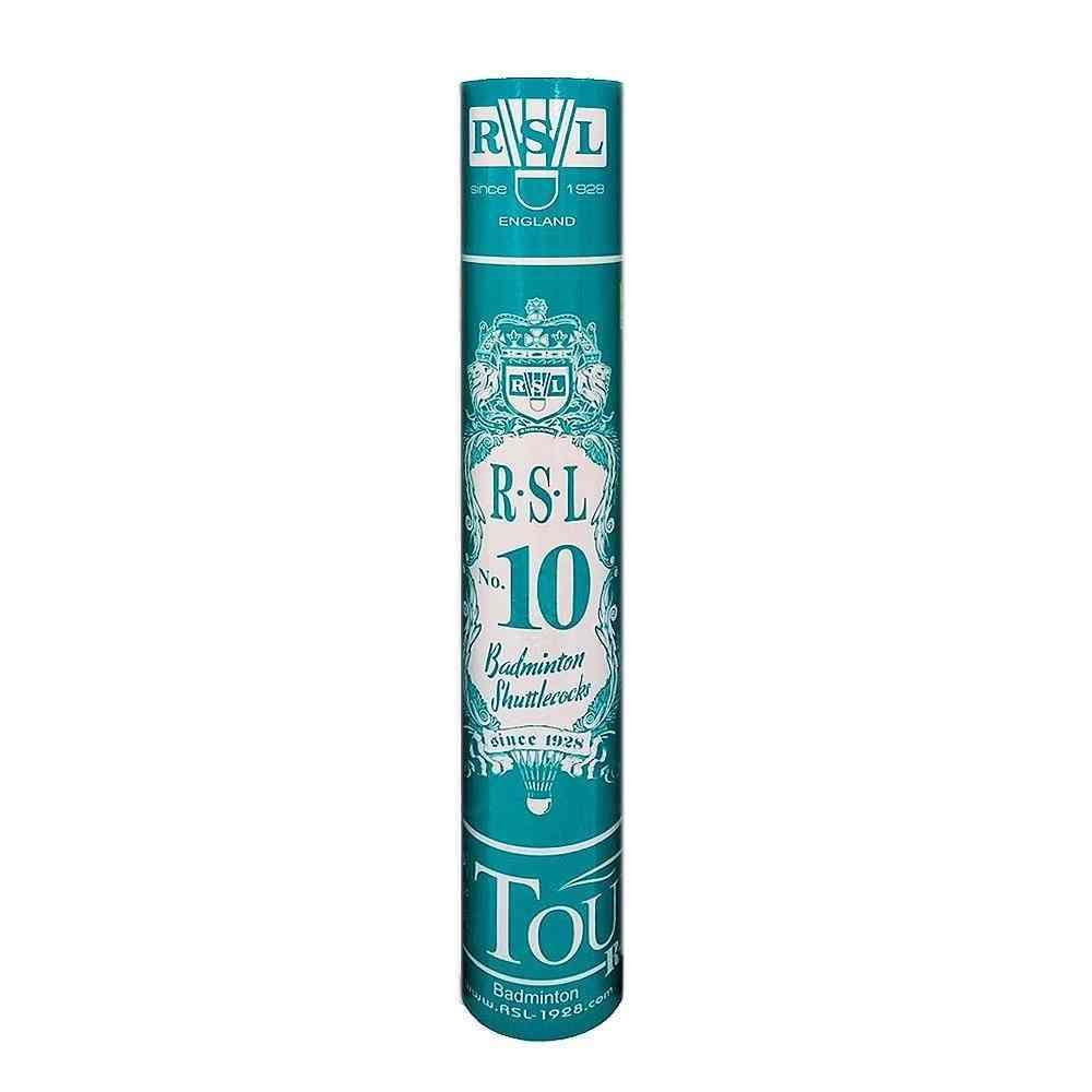 2019 100% Genuine Rsl Tourney Shuttlecocks No.10 Badminton Shuttle Duck Feather Ball For Beginner