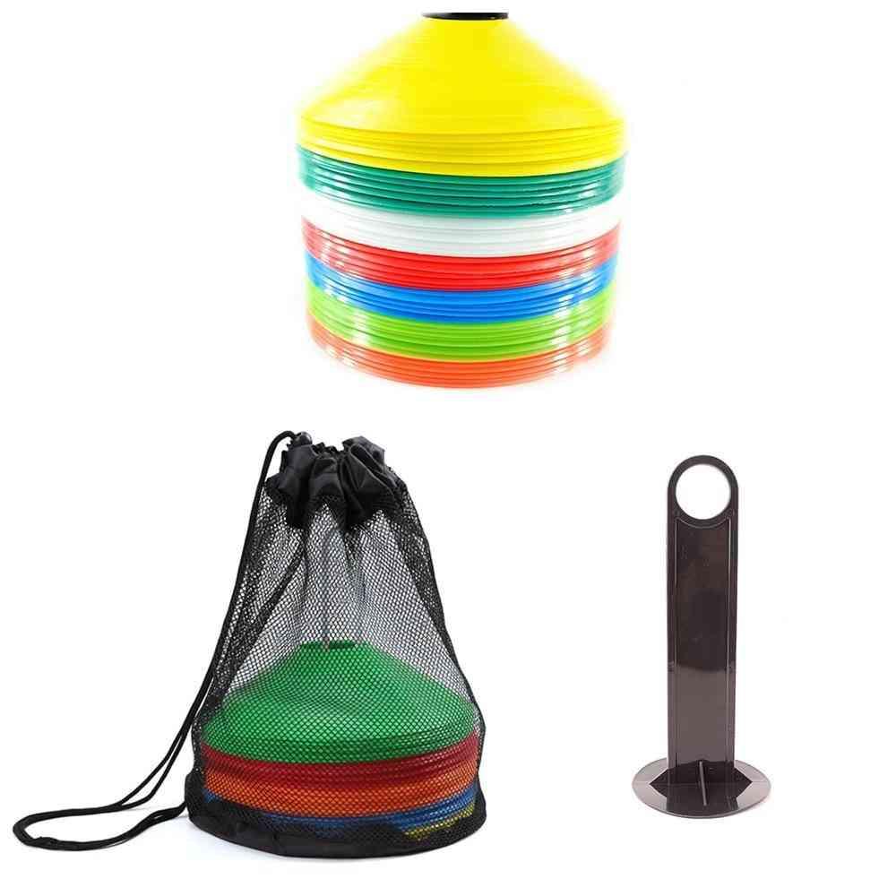 10 Pcs Hot Sale 19cm Cones Marker Discs Soccer Football Training Sports Saucer Entertainment Sports Accessories
