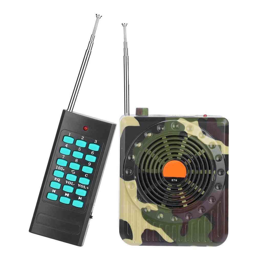 Camouflage Hunting Speaker Bird Caller Predator Sound Fm Radio Mp3 Player