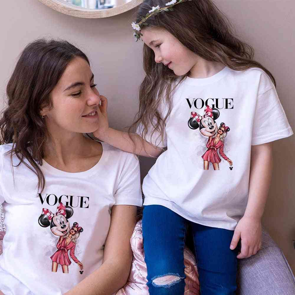 Women T-shirt, Mouse Print T-shirt, Baby Tops
