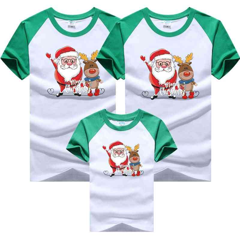 Christmas Outfits Dad Mom Baby T-shirts