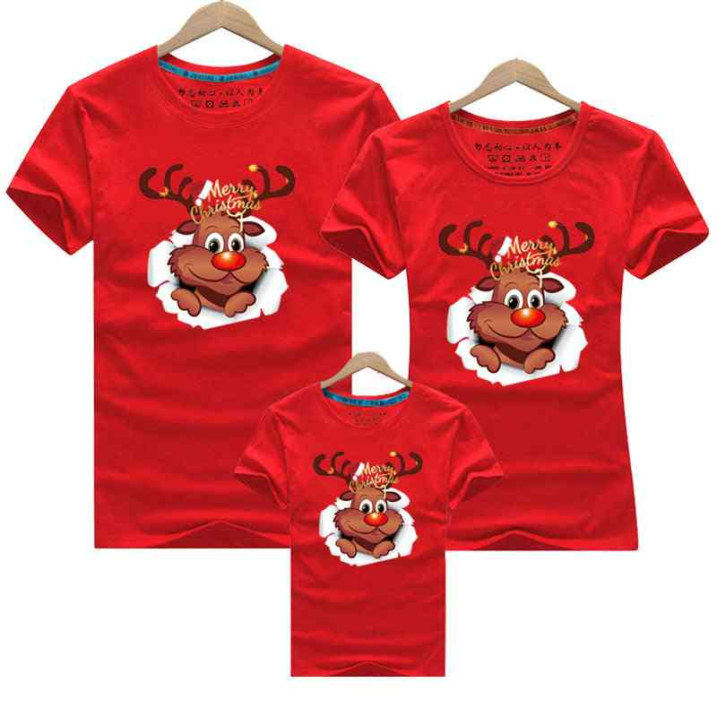 Merry Christmas Family Clothes, Mom Baby T-shirt