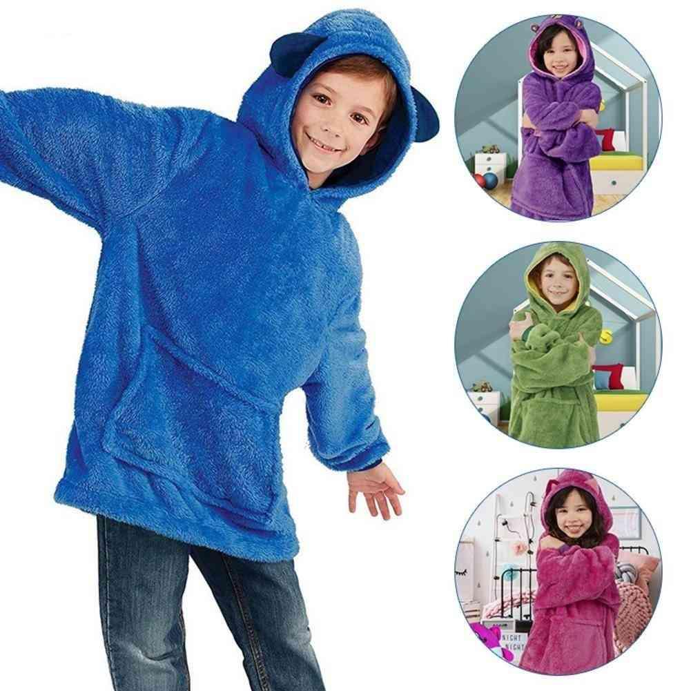 Children's Blanket Sweatshirt, Pet Shaped Wearable Hoodie