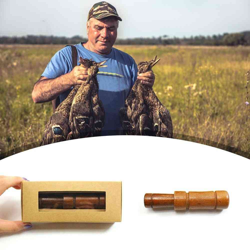 Outdoor Hunting Loud Call Whistle Wooden