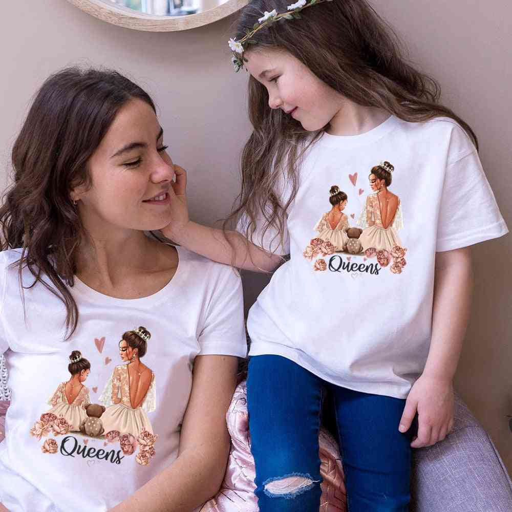 New Fashion Family Look T-shirt, Kids&woman Tops