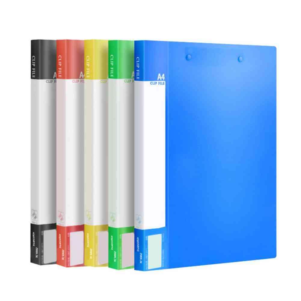 Folding Plastic Folder Double Clip Folder File Clipboard
