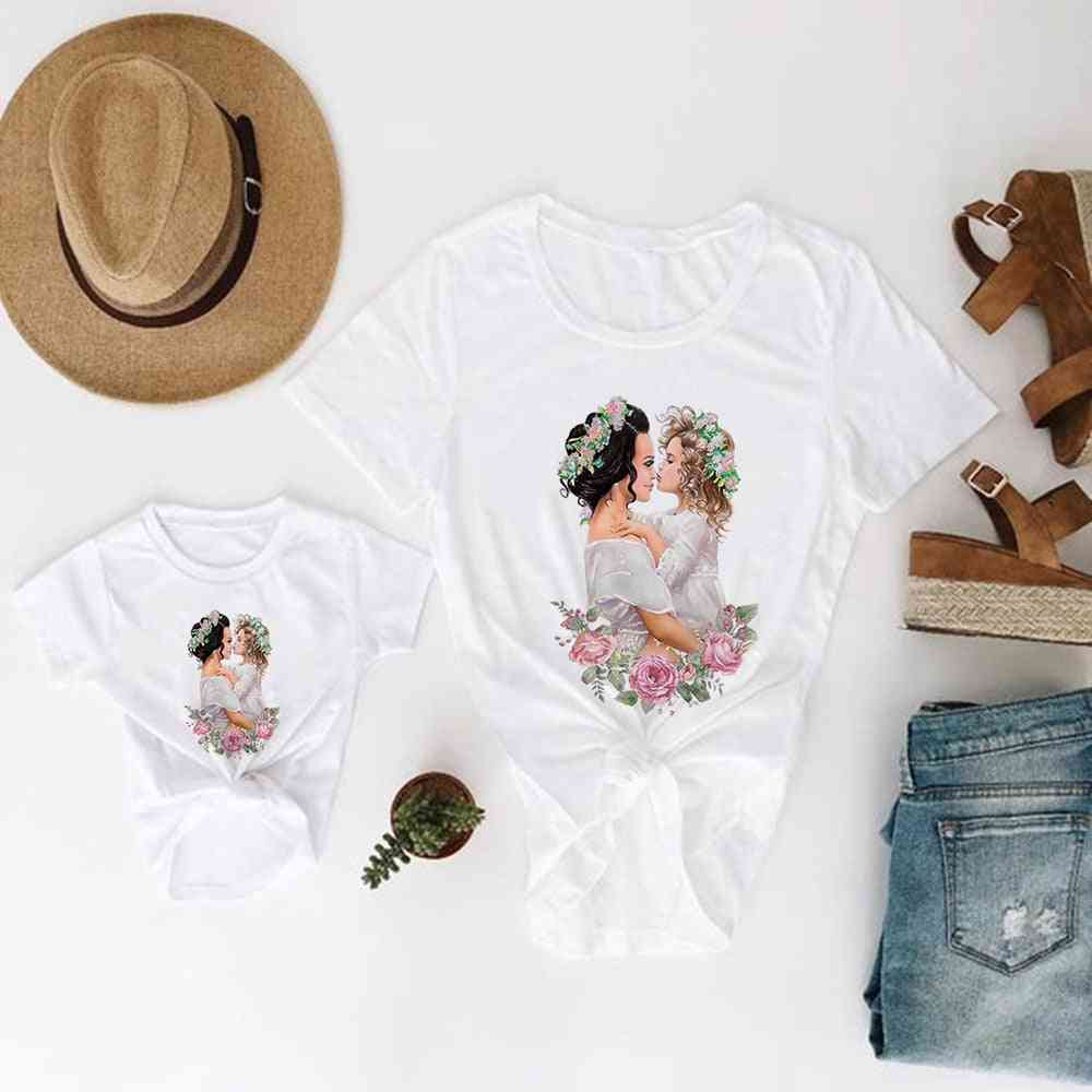 Mother And Daughter Clothes, Super Baby T-shirt, Pretty T-shirt