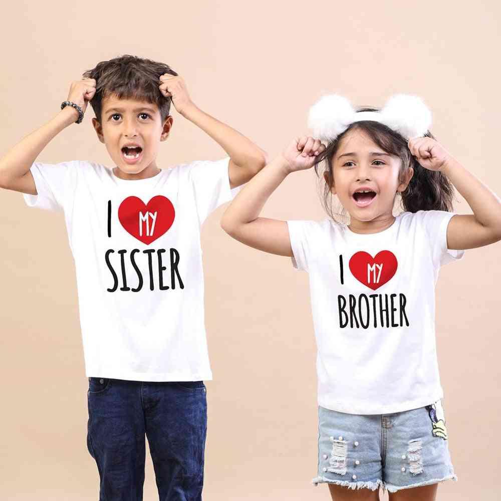 Kids Matching Tshirt, Tops, Summer Short Sleeve Shirt