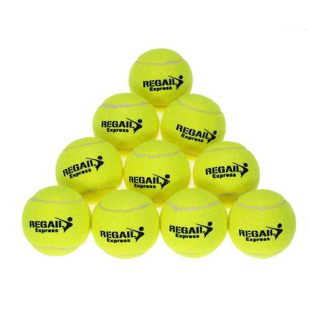 10pcs Tennis Balls Rubber Training Tennis Balls For Kids Women Tennis High Resilience Training Exercise Practice Tennis Ball