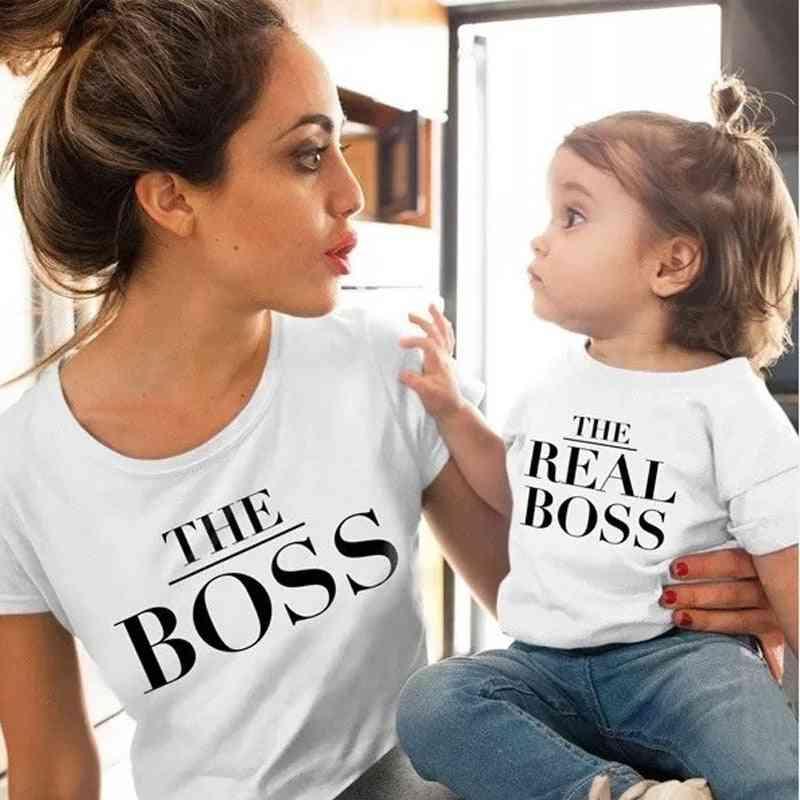 Family Matching Clothes T-shirt , Fashion Girls Mom T-shirt