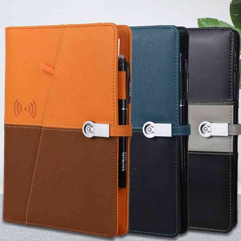 Wireless Charging Notebook Business Loose-leaf Notebook Built-in 8000mah