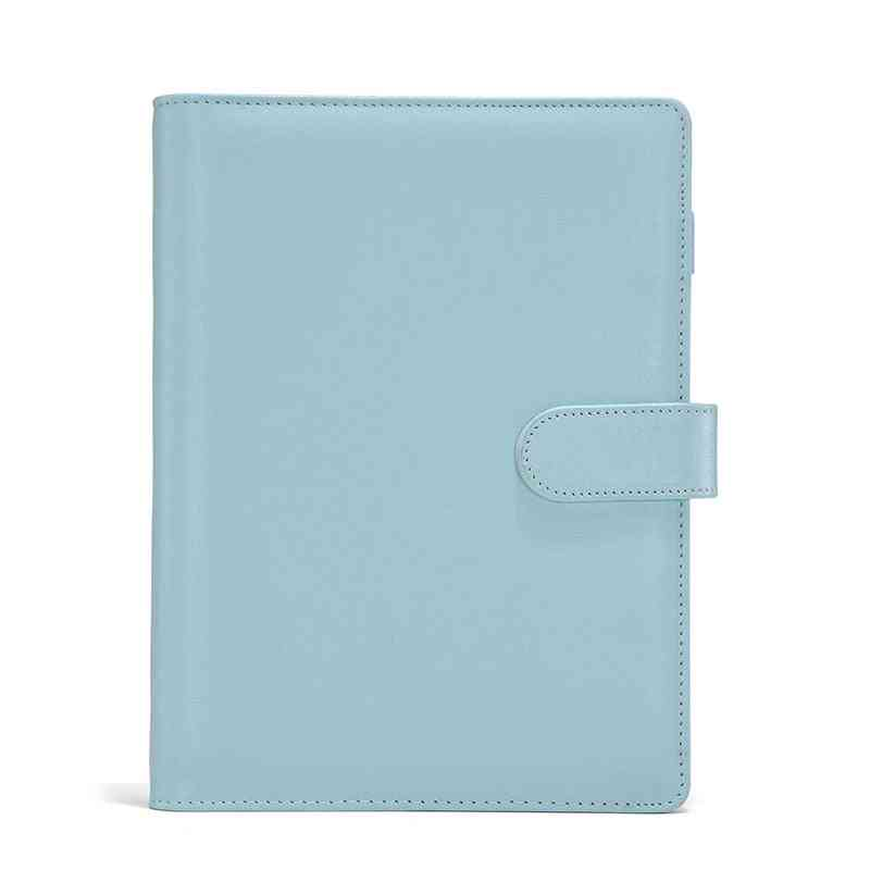A5 & A6 Pu Leather Notebook Shell Black Loose-leaf Binder / Covers