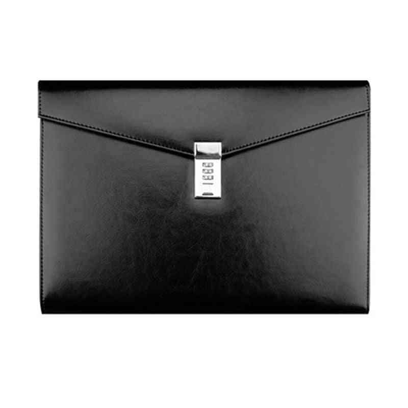 A4 Document File Folder With Password Lock Briefcase