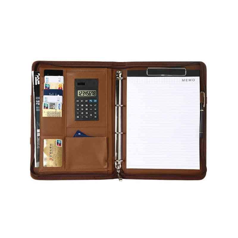 A4 Binder Folder Leather