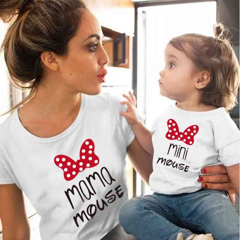 New Family Matching Clothes, T-shirt For Mother And Daughter