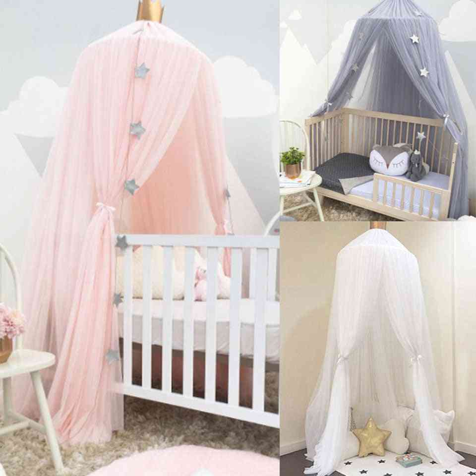 Baby Room Mosquito Net, Bed Hanging Kids Tent, Canopy Dome Curtain, Crib Netting, Round Hung